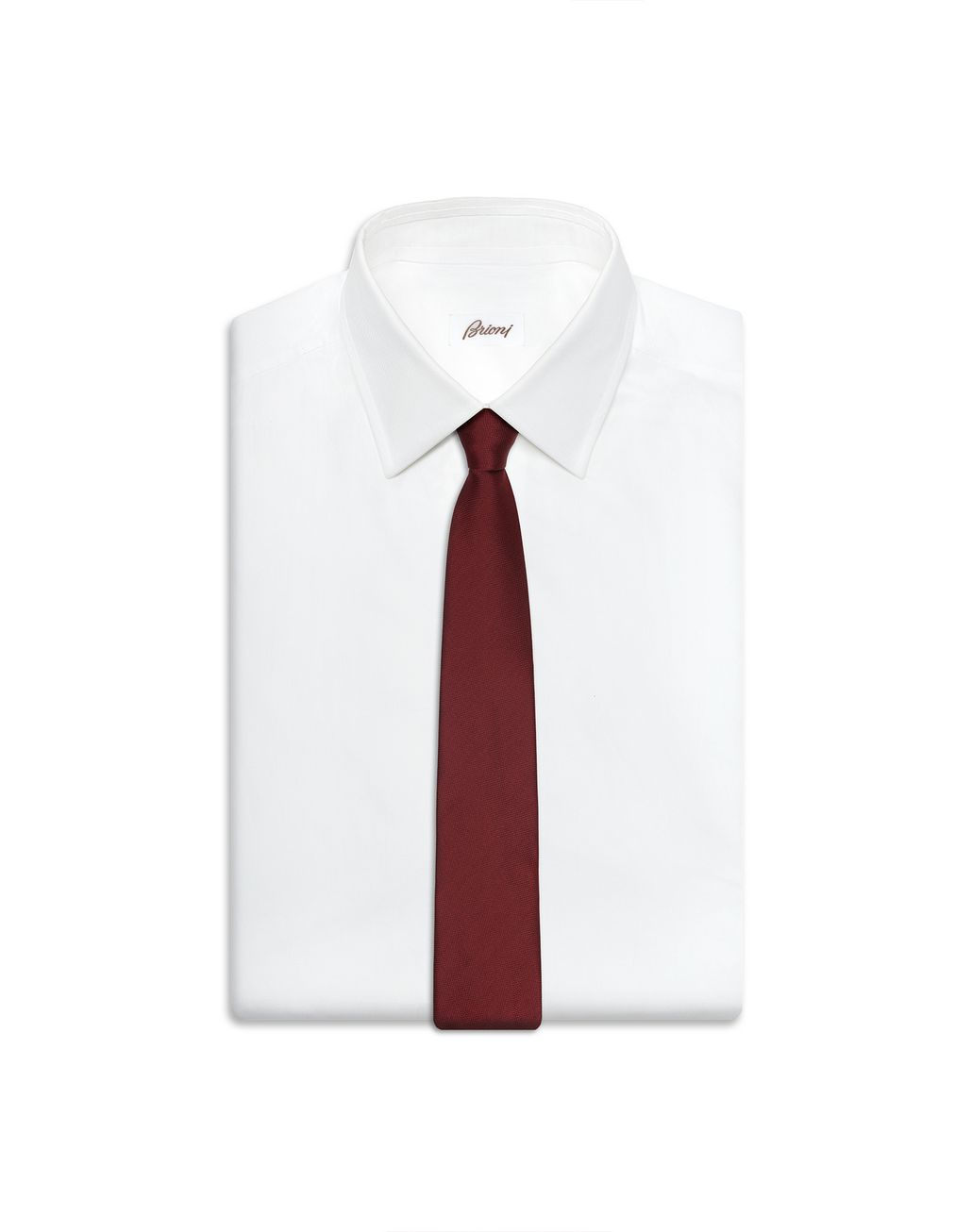 BRIONI Cravate tissée bordeaux Cravate Homme e