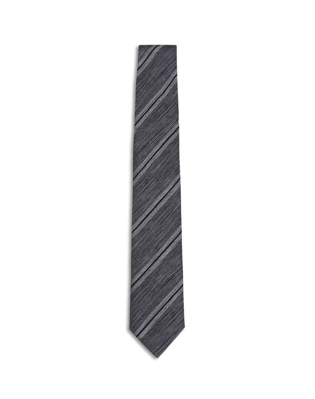BRIONI Beige and Gray Regimental Tie Tie [*** pickupInStoreShippingNotGuaranteed_info ***] f