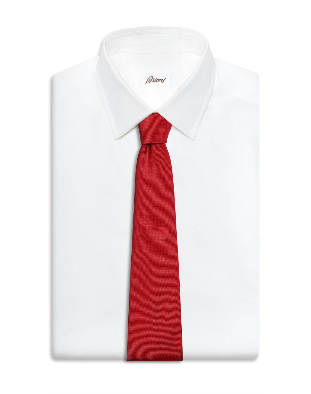 BRIONI Red Twill Tie Tie [*** pickupInStoreShippingNotGuaranteed_info ***] d