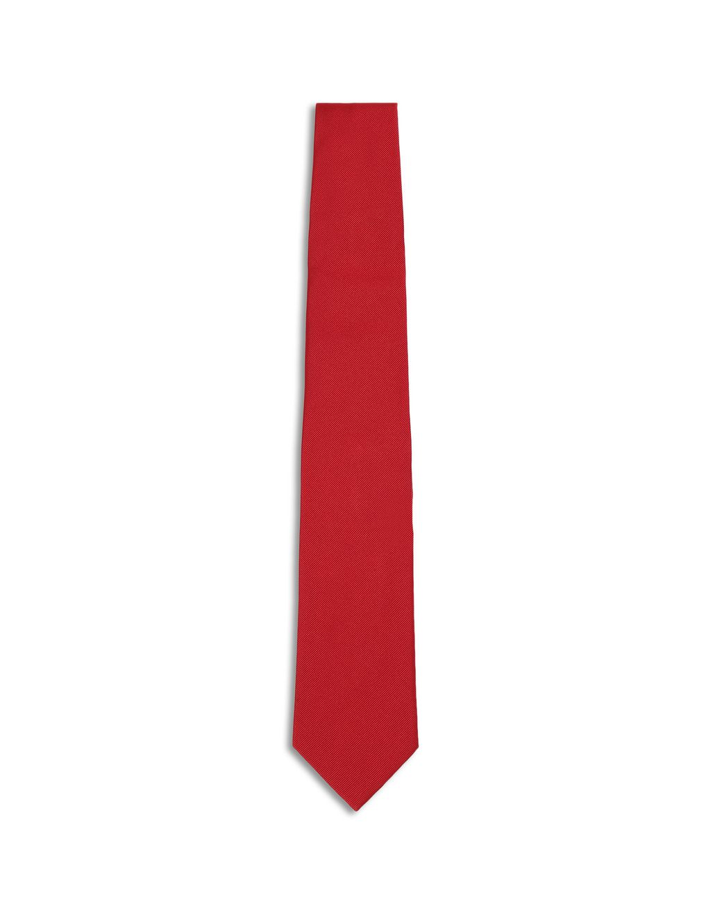BRIONI Red Twill Tie Tie [*** pickupInStoreShippingNotGuaranteed_info ***] f