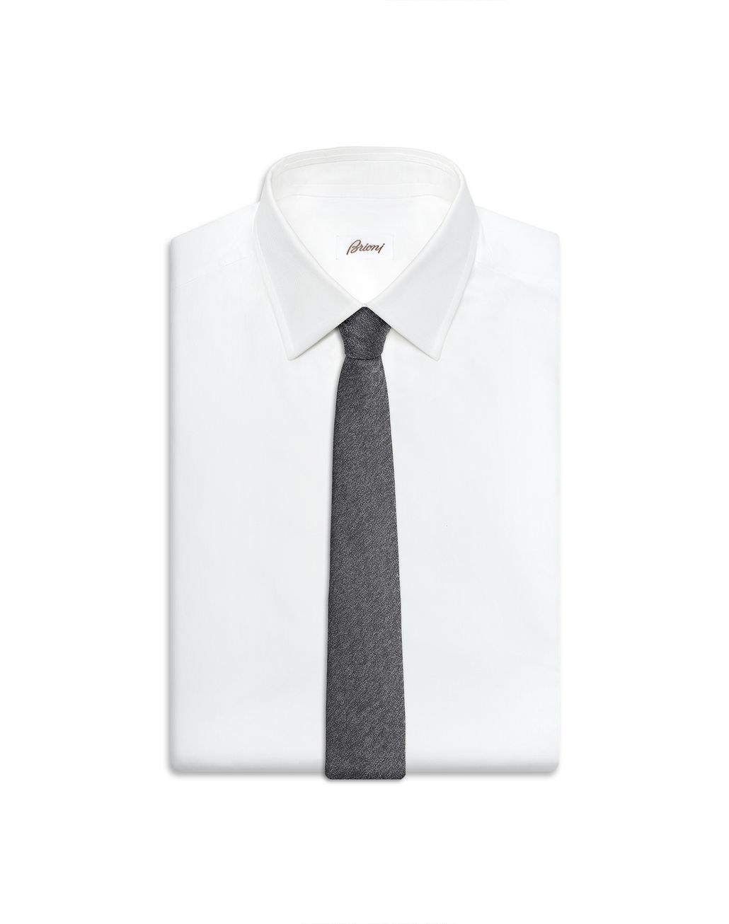 BRIONI Cravate texturée gris graphite Cravate Homme e
