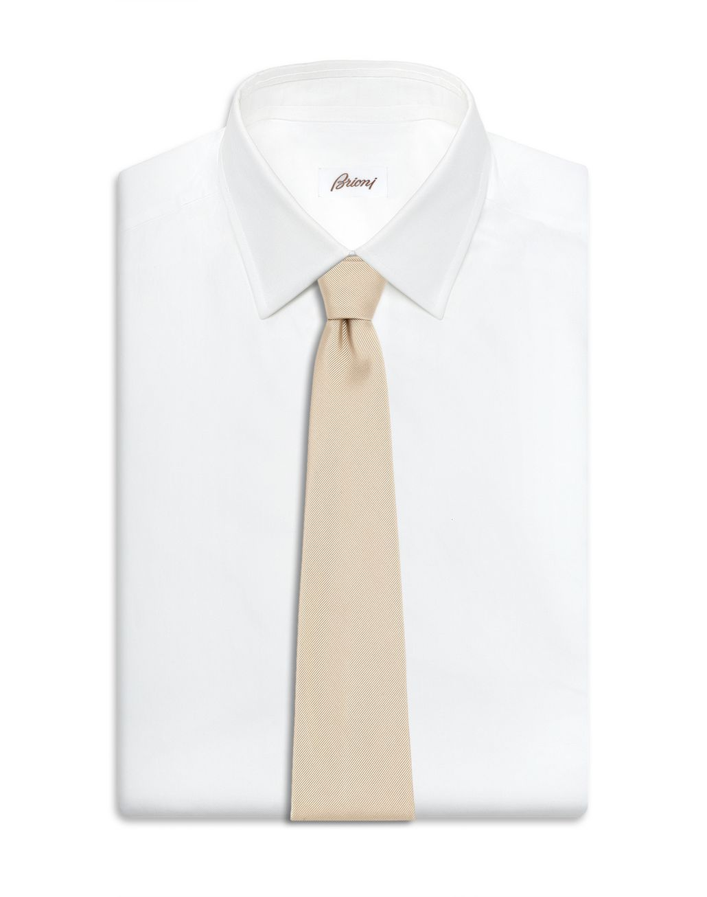 BRIONI 香槟色斜纹领带 领带 [*** pickupInStoreShippingNotGuaranteed_info ***] d