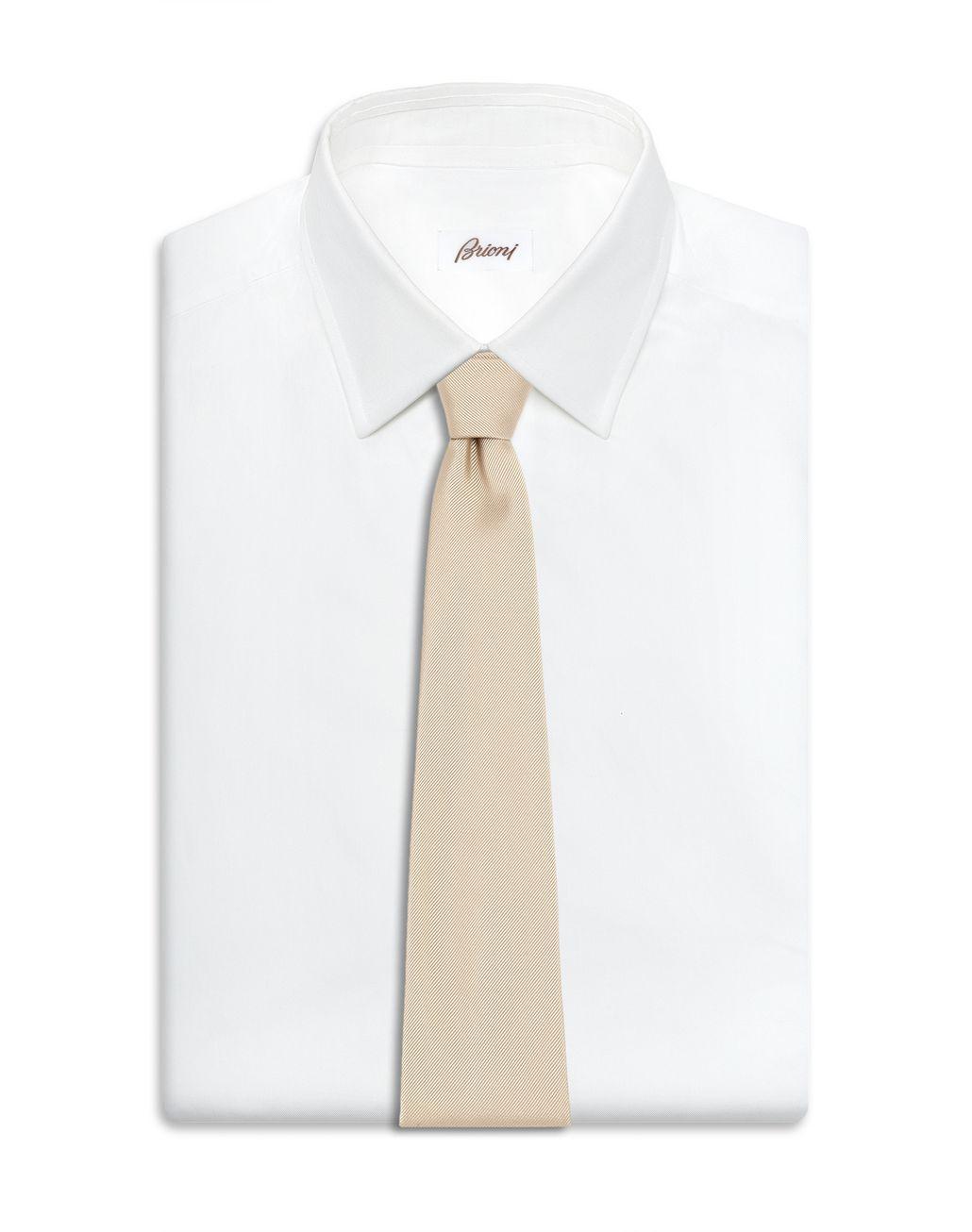 BRIONI Champagne Twill Tie Tie Man d