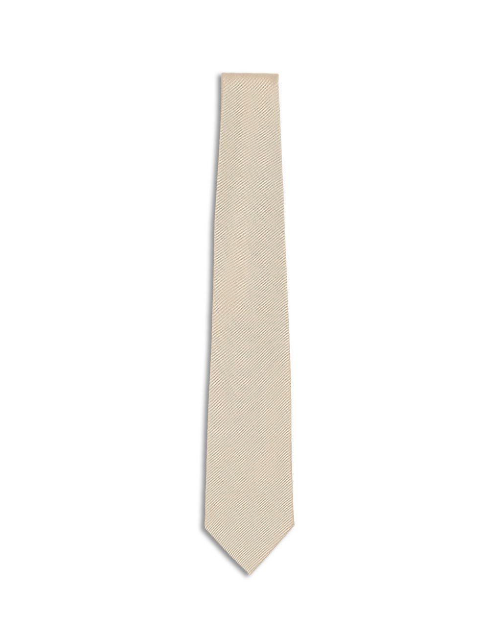 BRIONI Champagne Twill Tie Tie [*** pickupInStoreShippingNotGuaranteed_info ***] f