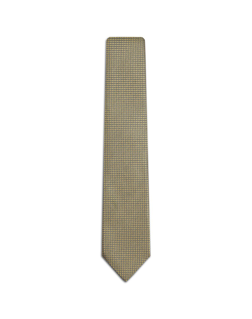 BRIONI Yellow Micro Design Tie Tie Man f