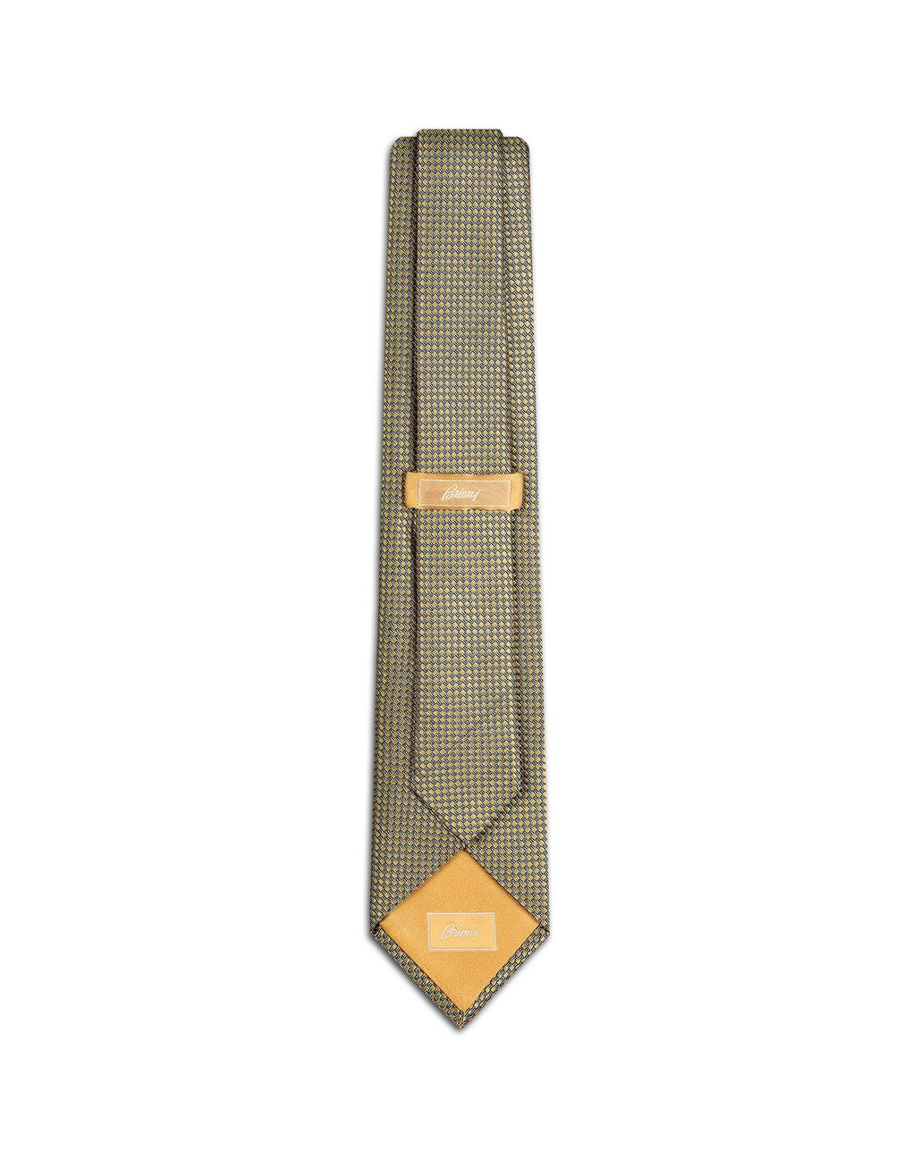 BRIONI Yellow Micro Design Tie Tie [*** pickupInStoreShippingNotGuaranteed_info ***] r