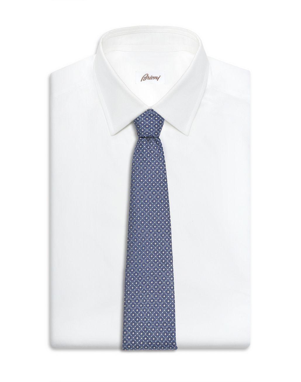 BRIONI 宝蓝色大号图案领带 领带 男士 d