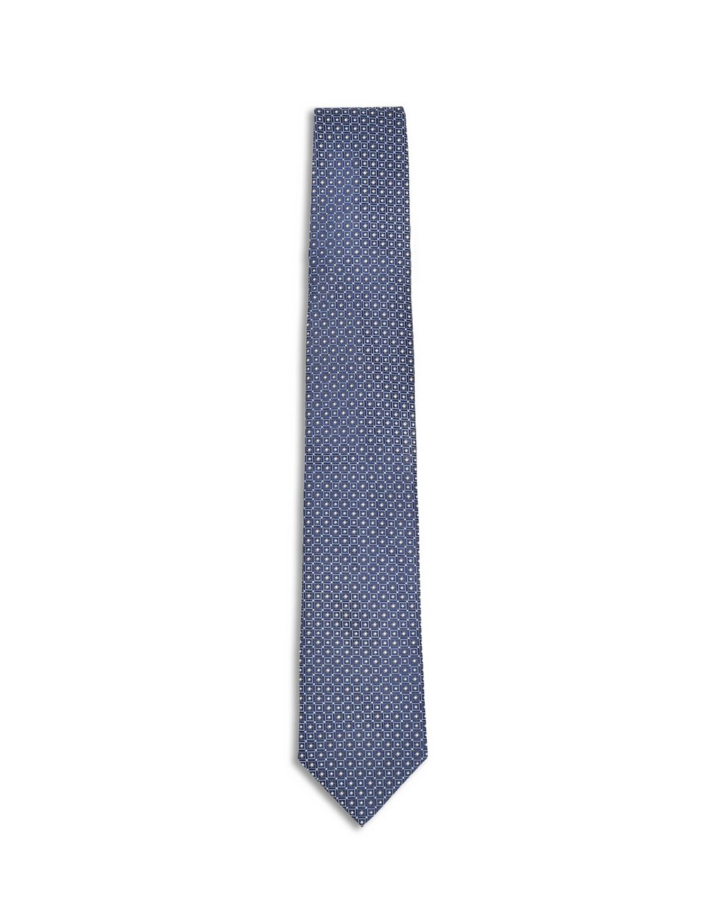 BRIONI Royal Blue Macro Design Tie Tie Man f