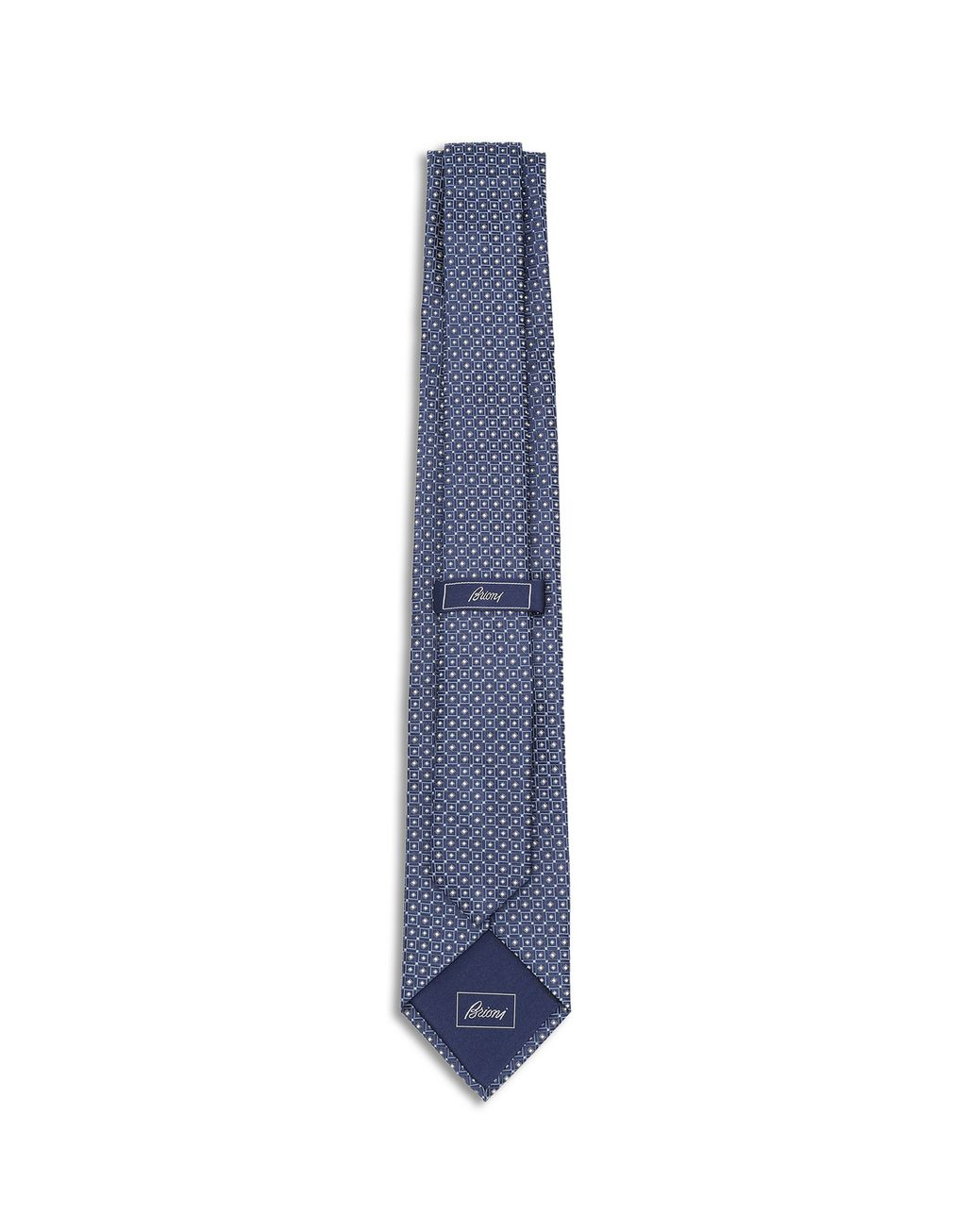 BRIONI Royal Blue Macro Design Tie Tie [*** pickupInStoreShippingNotGuaranteed_info ***] r