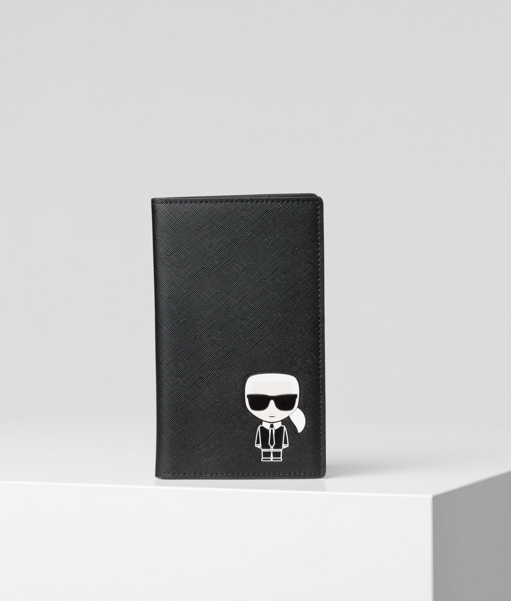 KARL LAGERFELD K/Ikonik Travel Wallet Cardholder Woman f