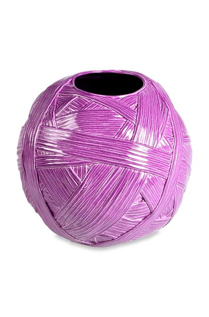 MISSONI HOME JAR_GOMITOLO VASE Purple E - Front