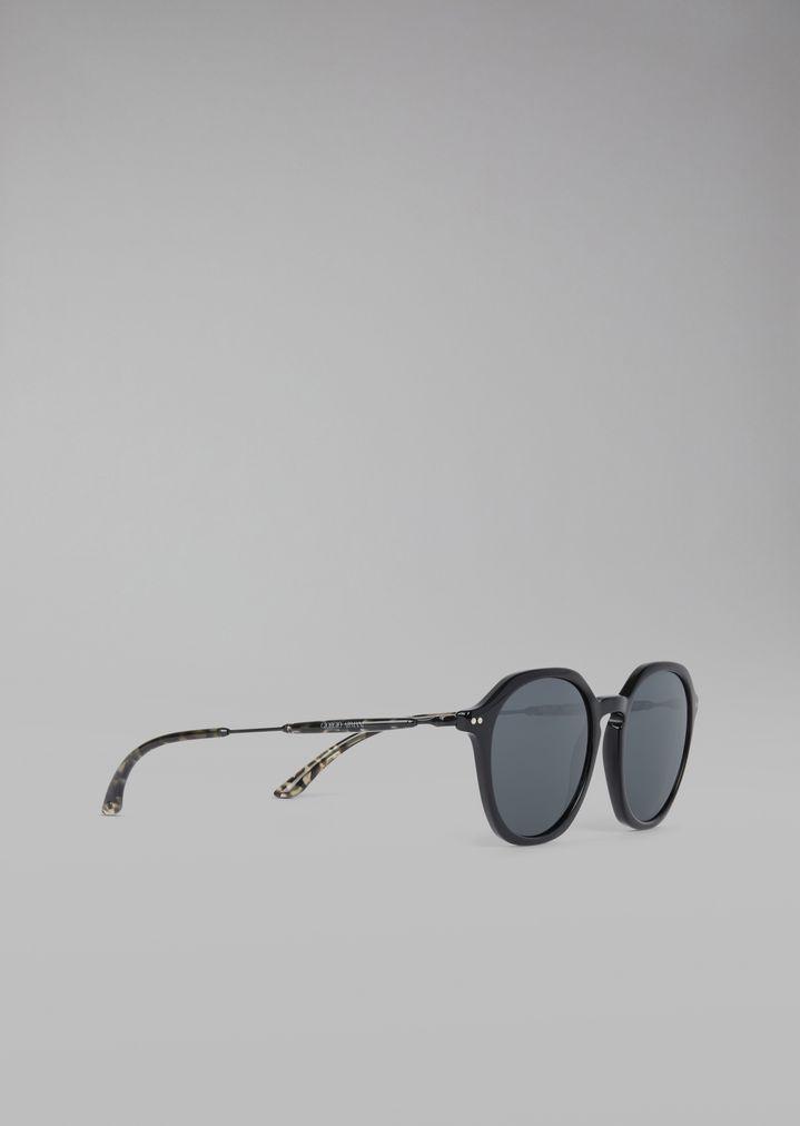 2917ce7ce76 GIORGIO ARMANI Sunglasses with patterned temples Sunglasses Man f ...