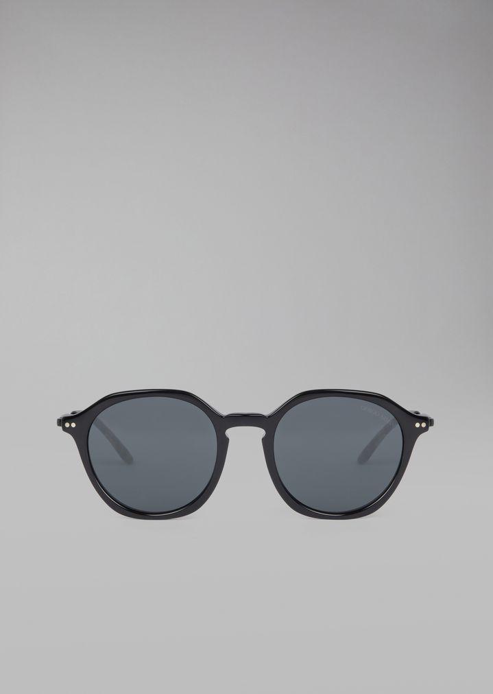 88f02c81a8c ... GIORGIO ARMANI Sunglasses with patterned temples Sunglasses Man r ...