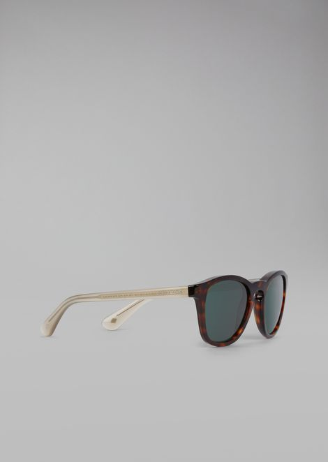 Sunglasses with two-tone frame