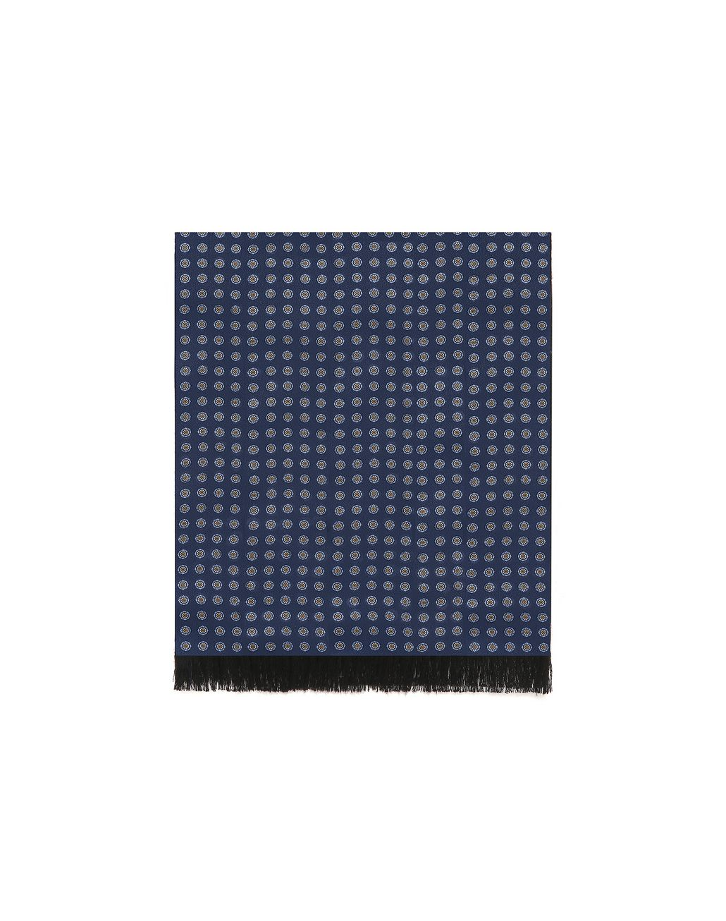 BRIONI Black and Navy Double Face Scarf Foulards & Scarves Man f