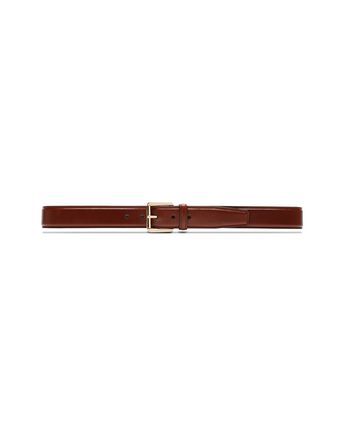 Havana Polished Calfskin Belt