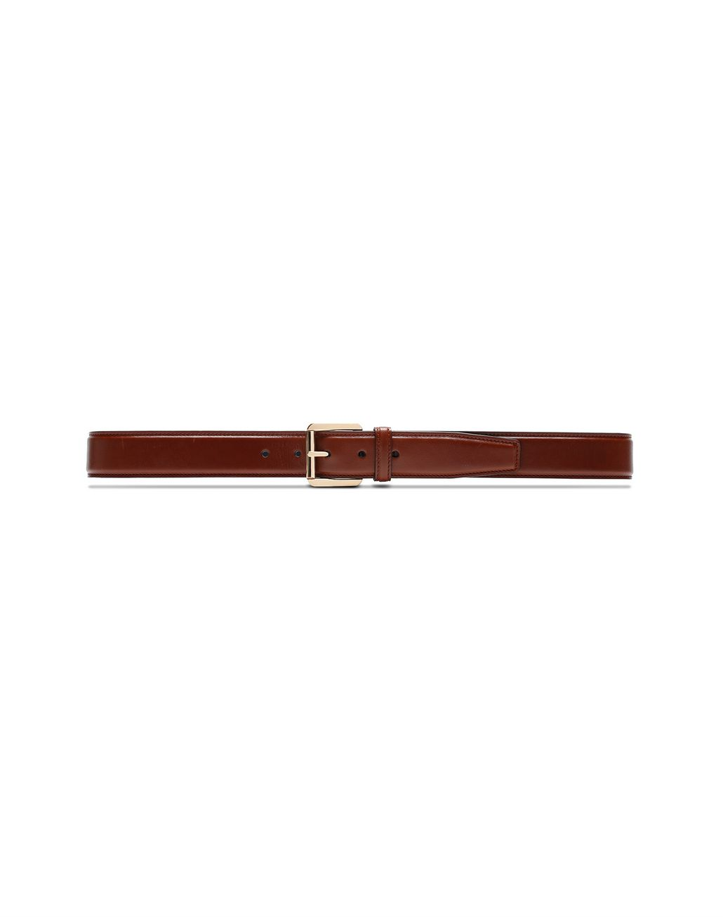BRIONI Havana Polished Calfskin Belt Belt Man f