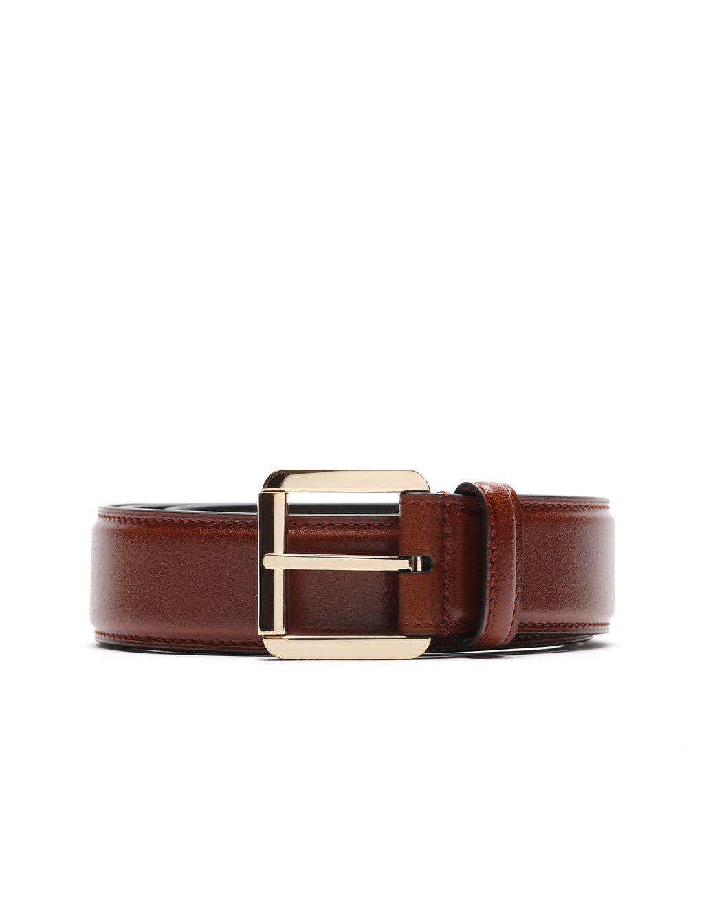 BRIONI Havana Polished Calfskin Belt Belt Man r