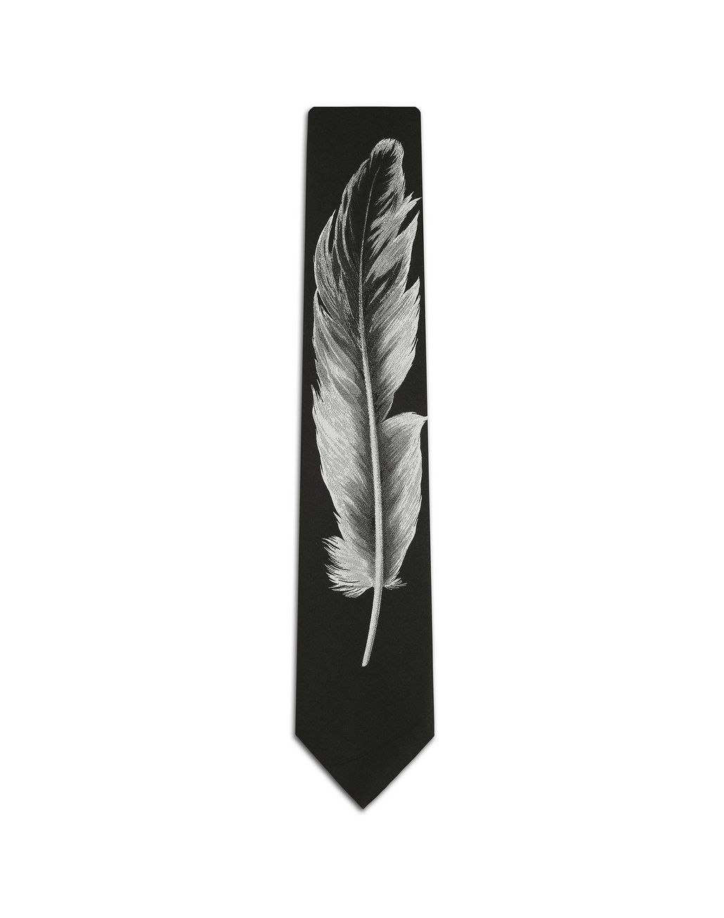 BRIONI Black Feather Tie Tie [*** pickupInStoreShippingNotGuaranteed_info ***] f