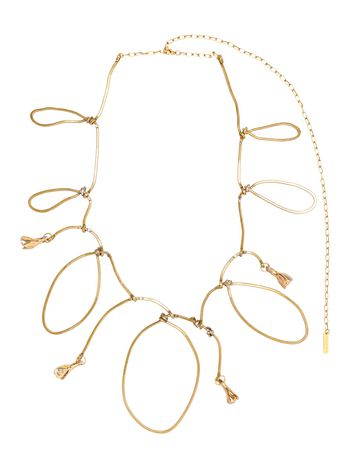 Marni Necklace in gold metal and ceramic with rhinestones Woman
