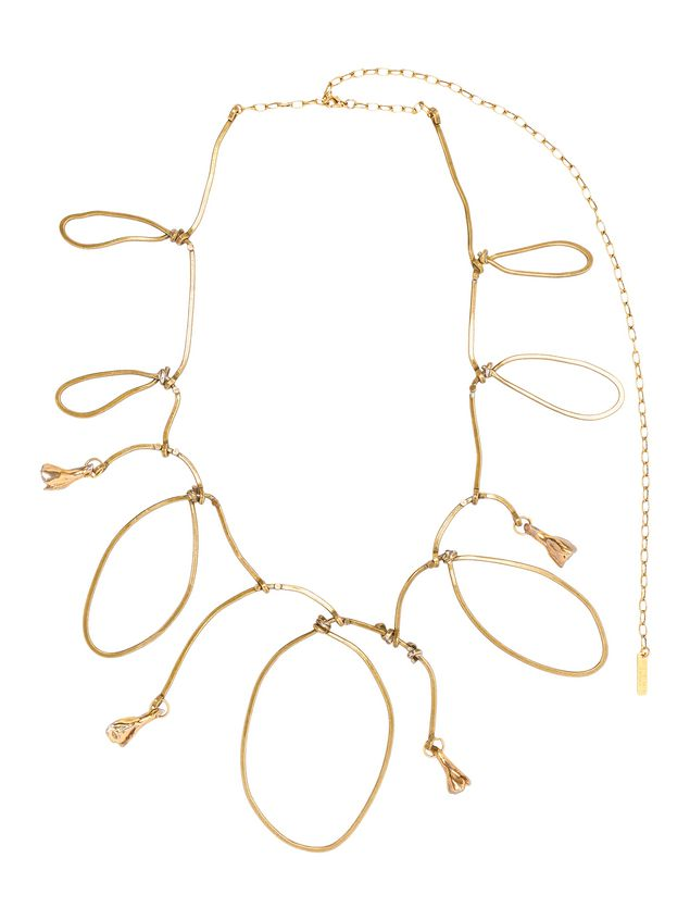 Marni Necklace in gold metal and ceramic with rhinestones Woman - 1