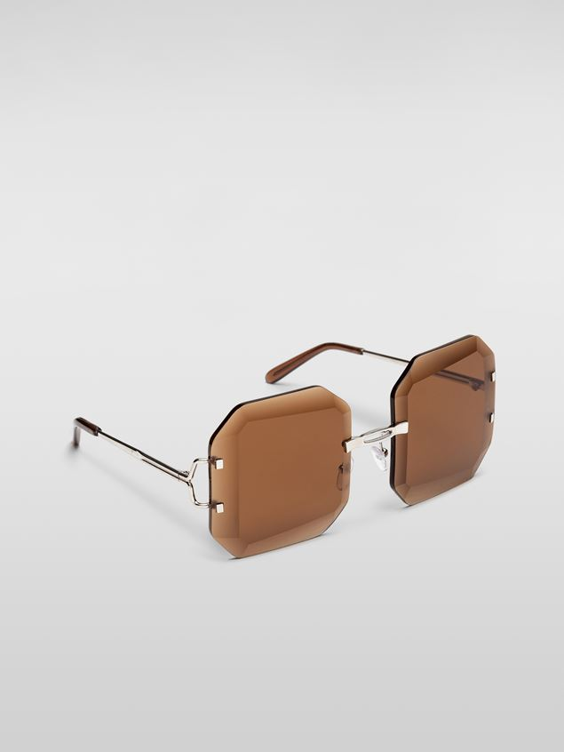 Marni MARNI SFILATA DONNA sunglasses in metal brown Damen - 2