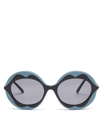 Marni MARNI DALI' sunglasses in gray and blue acetate Woman