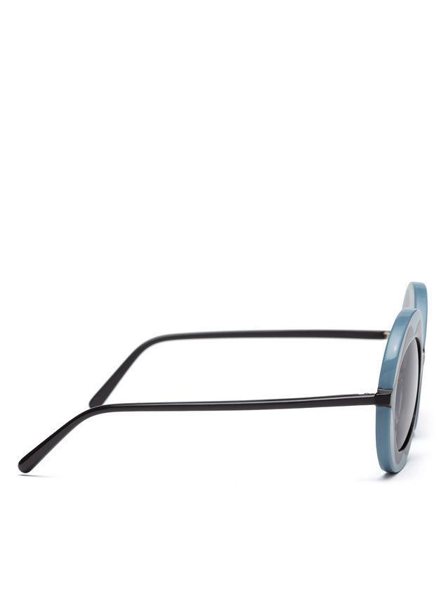 Marni MARNI DALI' sunglasses in gray and blue acetate Woman - 3