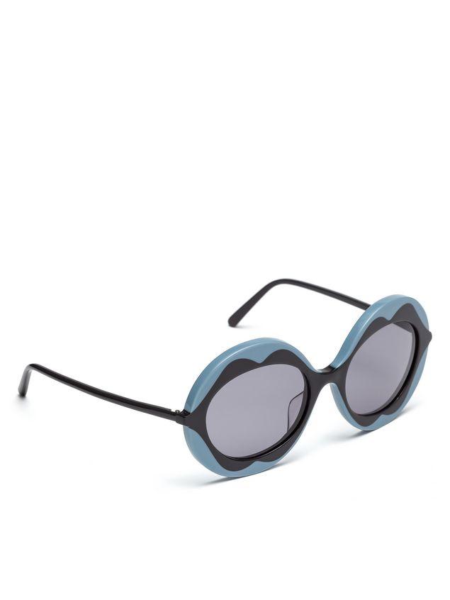 Marni MARNI DALI' sunglasses in gray and blue acetate Woman - 2