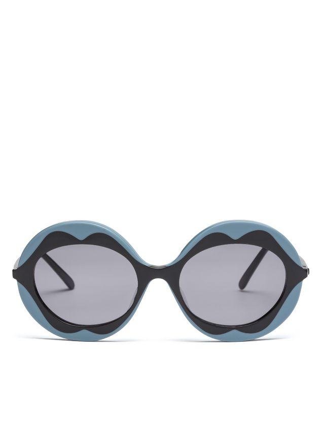 Marni MARNI DALI' sunglasses in gray and blue acetate Woman - 1