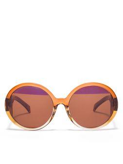 Marni MARNI MIRO' sunglasses in brown acetate Woman