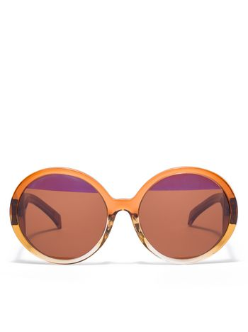 Marni MARNI MIRO' sunglasses in brown acetate Woman