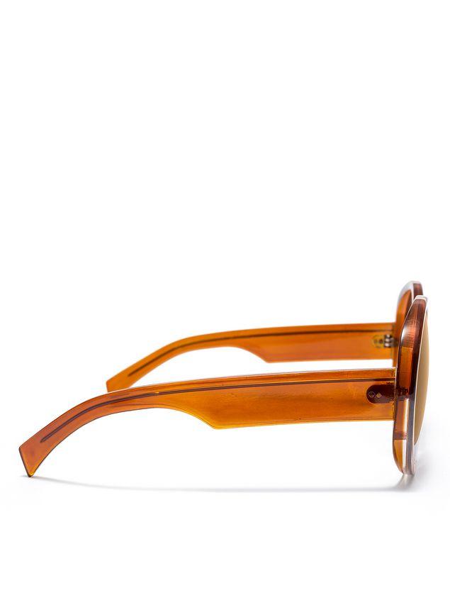 Marni MARNI MIRO' sunglasses in brown acetate Woman - 3