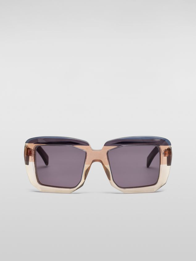 Marni MARNI ROTHKO sunglasses in gray acetate Woman - 1