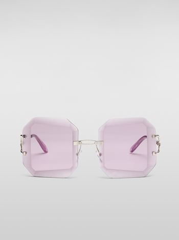 Marni MARNI WOMEN'S RUNWAY sunglasses in lilac metal  Woman