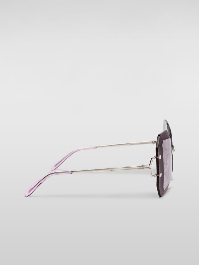Marni MARNI SFILATA DONNA sunglasses in metal lilac Woman - 3