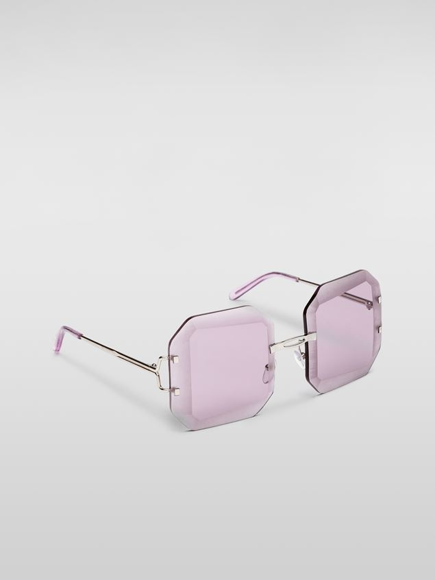 Marni MARNI SFILATA DONNA sunglasses in metal lilac Damen - 2
