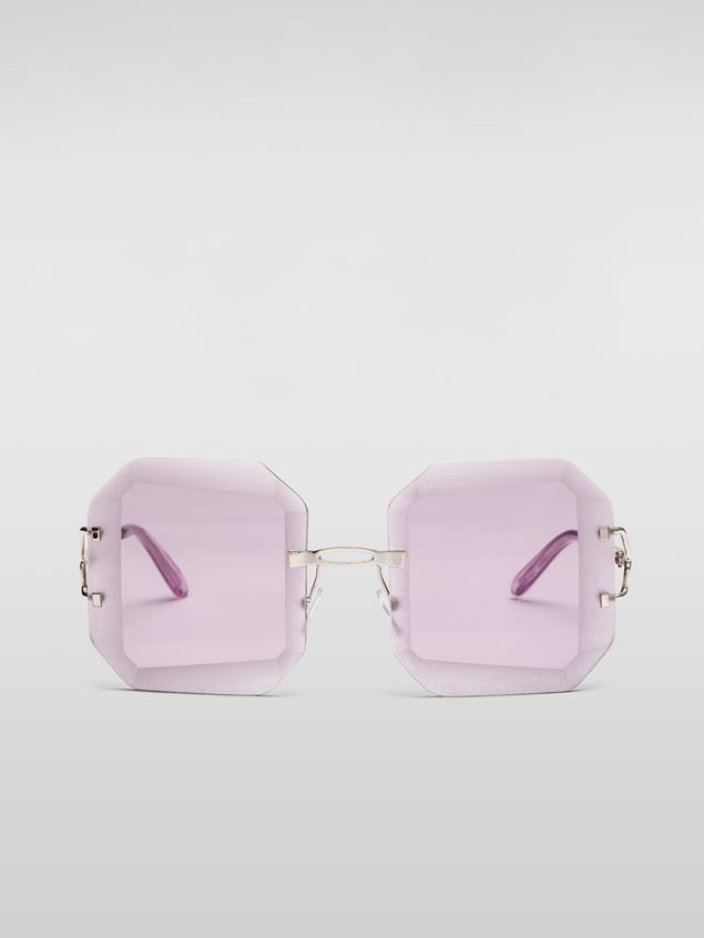 Marni MARNI SFILATA DONNA sunglasses in metal lilac Damen - 1