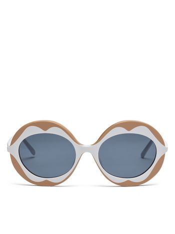 Marni MARNI DALI' sunglasses in beige and white acetate Woman