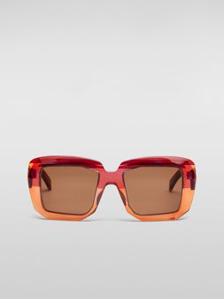 Marni MARNI ROTHKO sunglasses in pink acetate Woman
