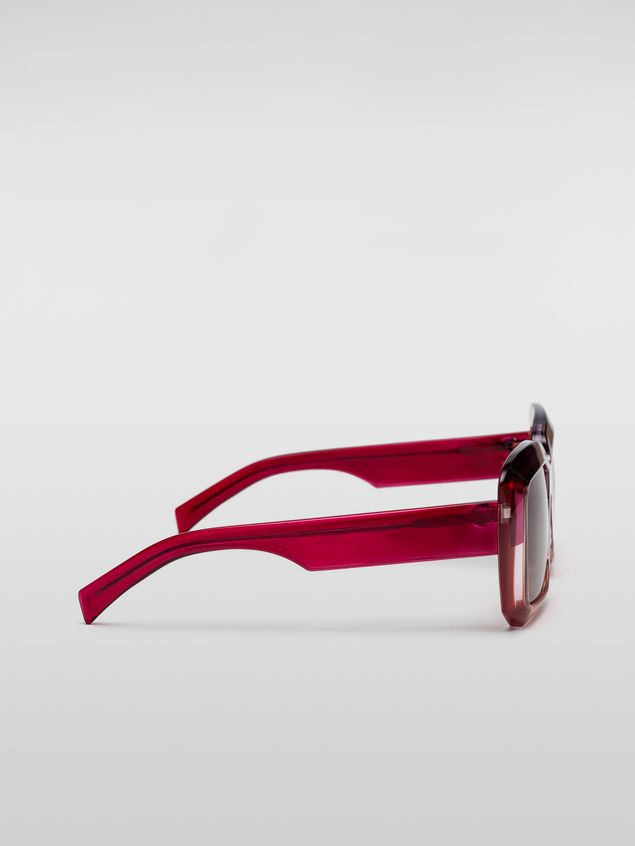 Marni MARNI ROTHKO sunglasses in pink acetate Woman - 3