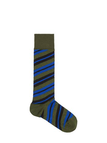 Marni Socks in cotton and nylon black and green Woman