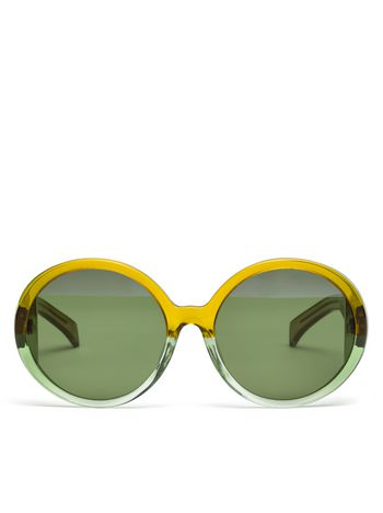 Marni MARNI MIRO' sunglasses in green acetate Woman