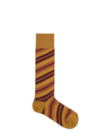 Marni Socks in cotton and nylon brown and yellow Woman