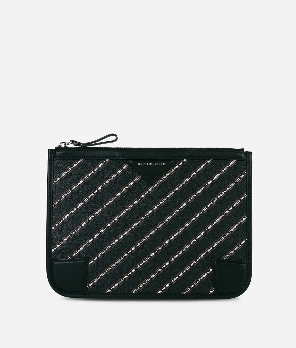 KARL LAGERFELD Маленькая сумочка-конверт с логотипом K/Stripe Минодьер Для Женщин f