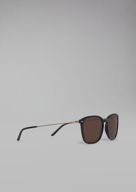 Солнцезащитные очки в черепаховой оправе из двух материалов