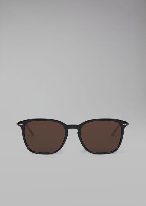 Gafas de sol con montura de carey de dos materiales