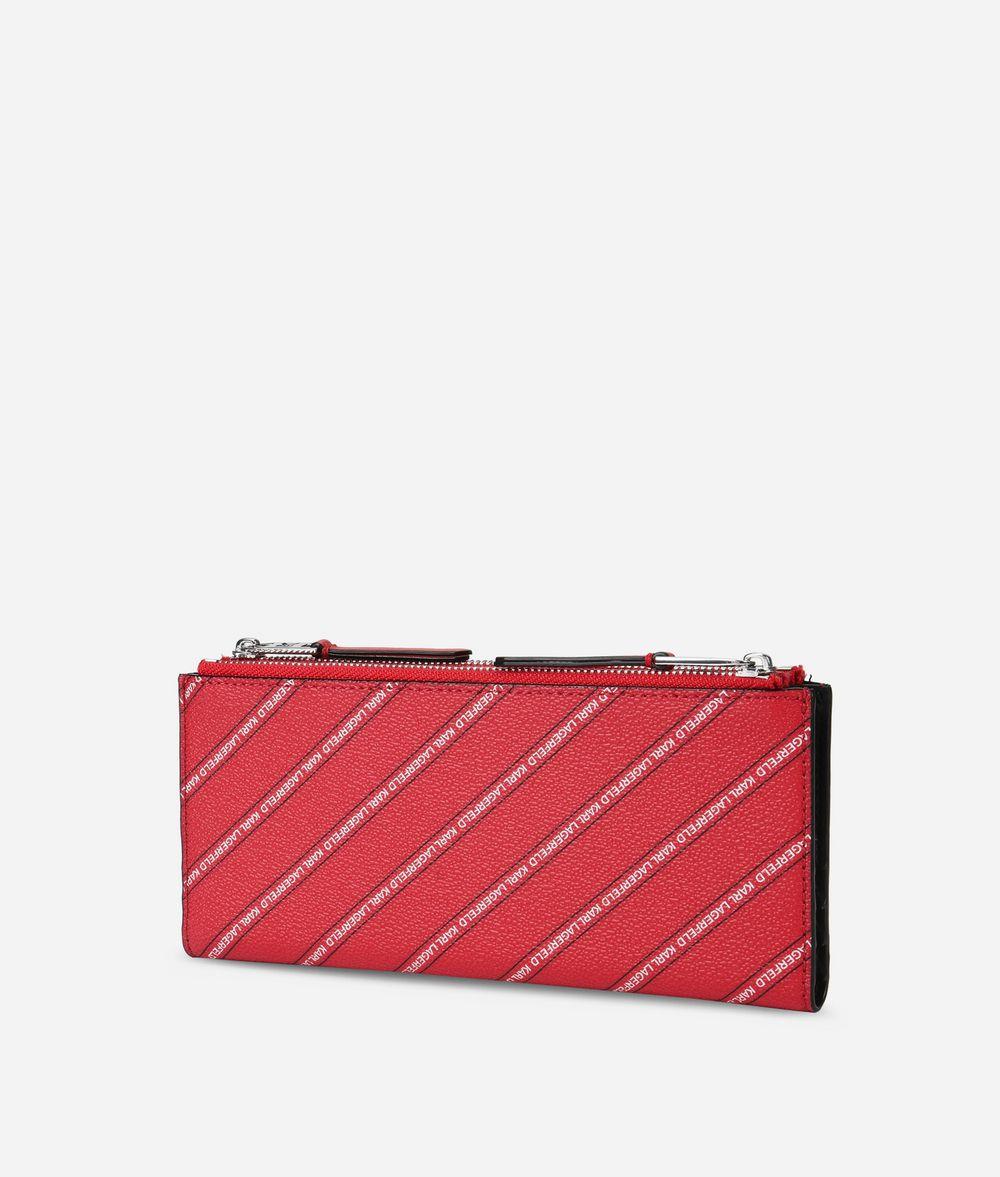 KARL LAGERFELD K/Stripe Logo Fold Wallet Wallet Woman d