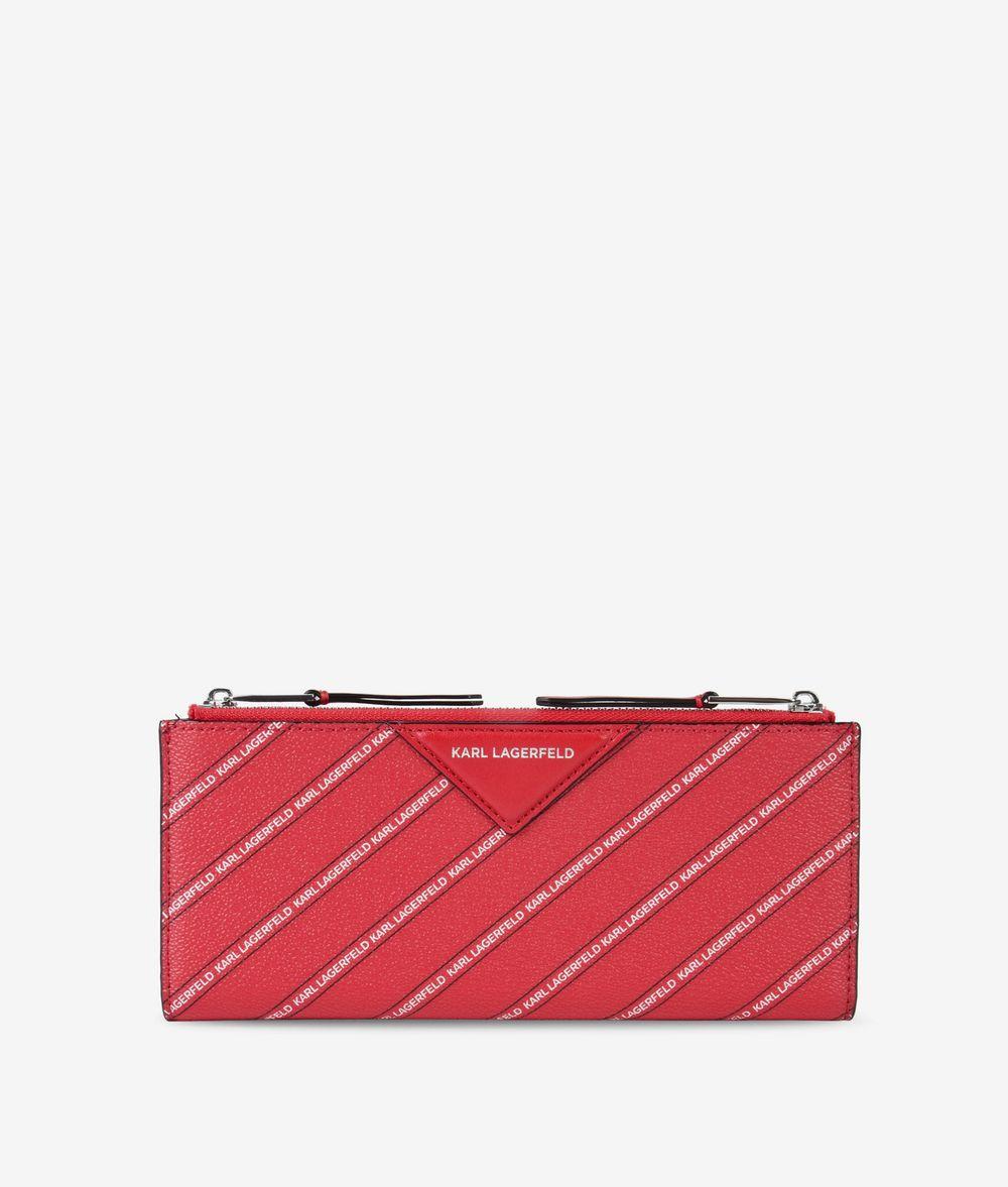 KARL LAGERFELD K/Stripe Logo Fold Wallet Wallet Woman f