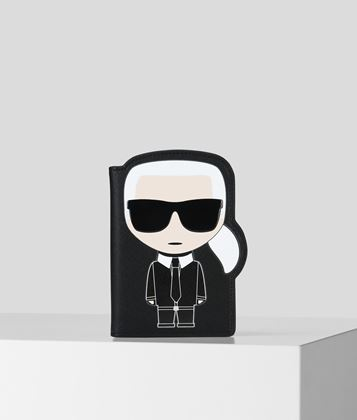 KARL LAGERFELD K/IKONIK PASSPORT HOLDER